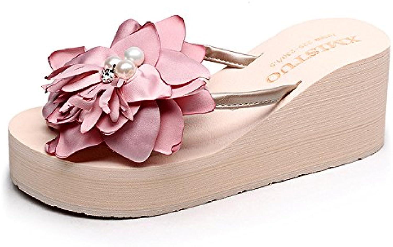 MEIDUO sandalias 7cm Zapatos de la playa de las sandalias para las mujeres/las muchachas (18-40 años) cómodo (...