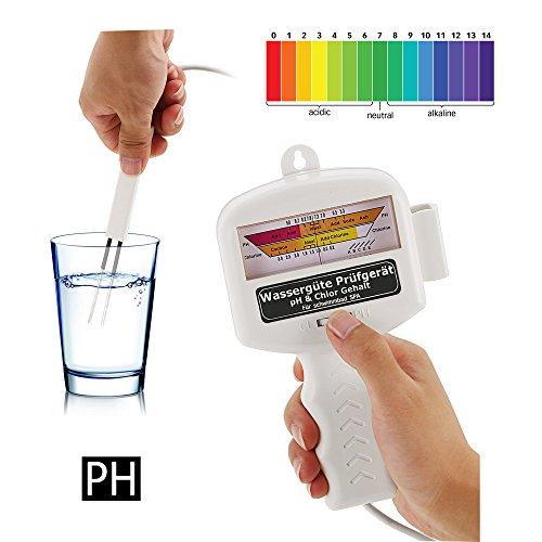 Ultrey Wassertester Chlor & PH Wert Messgerät Elektronischer Wasserqualität Tester für Pool Teich Aquarium Schwimmbad Trinkwasser