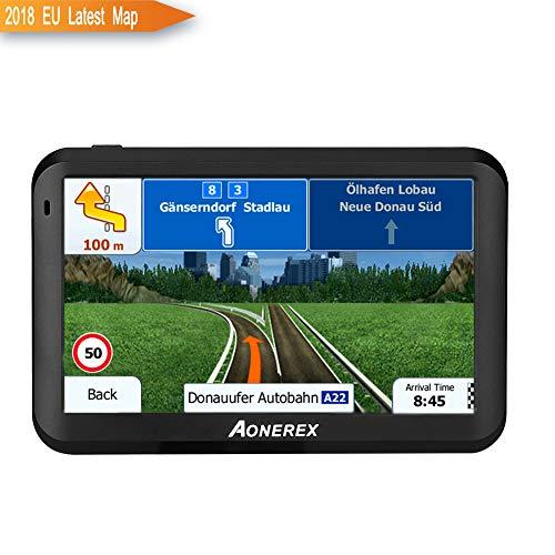 GPS Auto-Navigator 12,7cm Satellite Navigation System 8GB mit Stimme Navigation und gerichtete Speed Limit Display–aktualisierte Europa Karten und Lifetime Map Updates