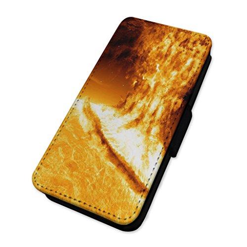 Solar Explosion–Sun Flame Flare–Flip Case Wallet Cover LG V10 (Solar-flare-design)