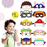 Paw Dog Patrol Spielzeug Puppy Party Masken 10 Stück Kinder Cosplay Masken Cosplay Party Masken Geburtstag Augen Masken passen für Maskerade Halloween Dress Up Party Supplies für Kinder und Erwachsene