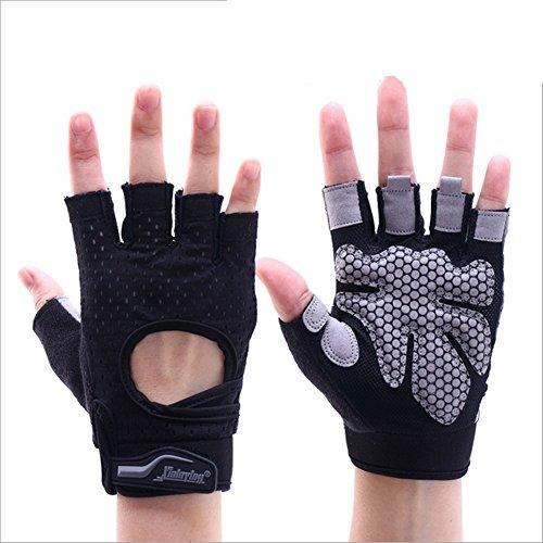 Weizhe 3,5auf Männer und Frauen Fitness-Yoga, atmungsaktiv, zum Schutz, Sport-Handschuhe, Schwarz, Einheitsgröße
