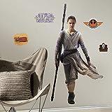 Thedecofactory RMK3149GM Stickers Star Wars Episode 7 Rey GÌANT ROOMMATES REPOSITIONNABLES (140X73CM), Vinyle, Multicolore, 104 x 46 x 0,1 cm