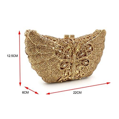 Borsa Da Sera Di Lusso Con Diamante Borsa Da Donna Oro Di Fascia Alta