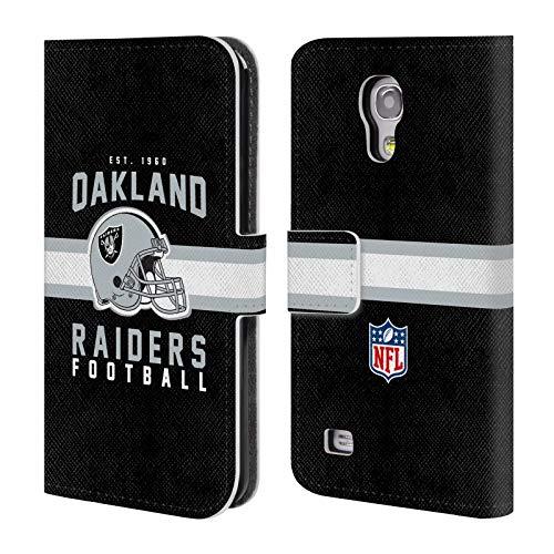 fizielle NFL Helm-Buchdruckerkunst 2018/19 Oakland Raiders Brieftasche Handyhülle aus Leder für Samsung Galaxy S4 Mini I9190 ()