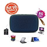 Imbue Hycot+ Fabric Covered Portable Bluetooth Speaker with FM and Memory Card Slot for Redmi Splash Proof Compact Size for Smartphones