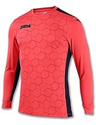 Joma - Camiseta portero derby ii coral flúor m/l para hombre