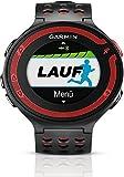 Garmin - Forerunner 220 - Montre de Running - Cardio Fréquencemètre - GPS Intégré - Etanche - Noir/Rouge