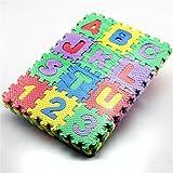 Cido 36pcs / set bébé enfants enfant doux Tapis de jeu en mousse EVA Alphabet Numéros GYM Puzzle Jouet bricolage carrela