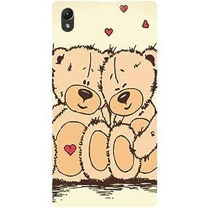 Casotec Teddy Bear Love Design Hard Back Case Cover for Sony Xperia Z1 L39H