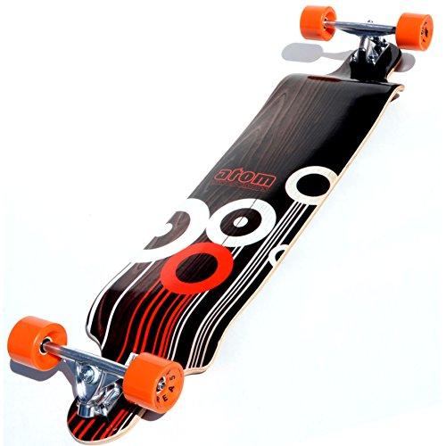 Atom Drop Down Longboard - Orange, 41 Inch -