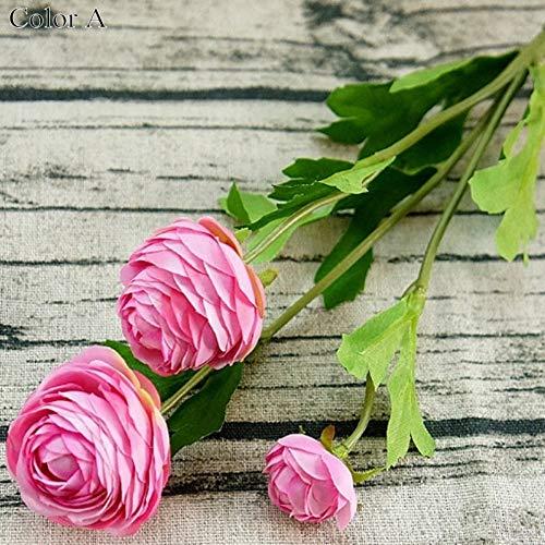 MuMu-huahua STÜCKE Köpfe Kleine Künstliche Ranunculus Asiaticus Rose gefälschte Blumen Seide Flores artificiales für haupthochzeits-Dekoration pfingstrosen