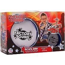 """Globo Toys Globo–37386–Juego de """"Factory sonido 3tambores/1platillo y 2barras–Peluche musical"""