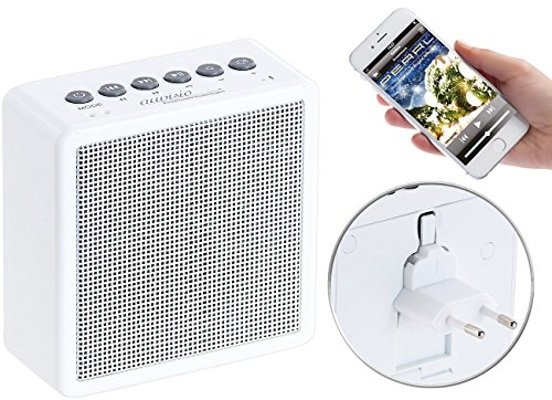 auvisio Badradio: UKW-Steckdosenradio mit Bluetooth, Freisprecher, USB-Ladeport, AUX-in (Badradio Steckdose)