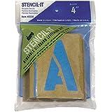 """Stencil-It riutilizzabile scritta Set-4 """""""