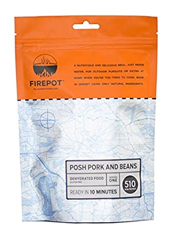 FIREPOT by Outdoorfood - Posh Pork and Beans (Regular) - Healthy Dehydrated Expedition Food