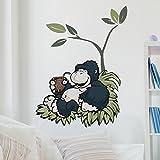 Bilderwelten Wall Sticker NICI Wild Friends Monkey enjoys, wall tattoo Wall Sticker NICIs wall tattoos wall decals, Dimensions: 160cm x 120cm