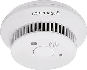 Homematic IP Smart Home Rauchwarnmelder mit Q-Label, intelligenter Alarm lokal und per App aufs Smartphone, 142685A0