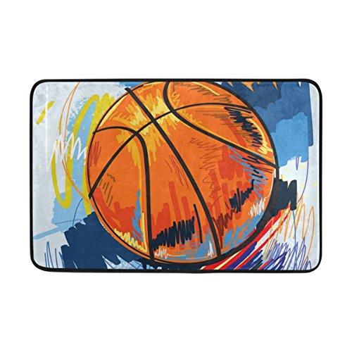 Sunlome Drachenschwert Anti-Rutsch-Teppich willkommen Fußmatte Basketball Eingangsmatte Bodenmatte Innen/Außen/Haustür/Bad Matten 23,6 x 15,7 23,6