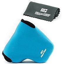 MegaGear '' Ultra-Light '' funda de cámara de neopreno, bolsa - funda protectora para Fujifilm X-A10, X-A3, X-A2, X-A1, X-M1 (16-50 Lente) - con mosquetón para llevar fácil (Azul)
