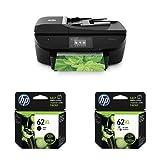 HP Officejet 5740 e-All-in-One Drucker (Scanner, Kopierer, Fax, Drucker, 4800 x 1200 dpi) schwarz mit passenden Original Patronen