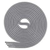 Di Ficchiano Schnürsenkel, Rundsenkel für Business- und Lederschuhe, reißfester Allroundsenkel, ø 3mm Farbe grau Länge 120cm