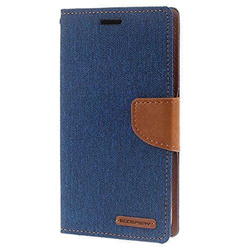 Krish Tech Synthetic Leather Canvas Dairy Flip Cover For HTC Desire 816 / 816G - Blue