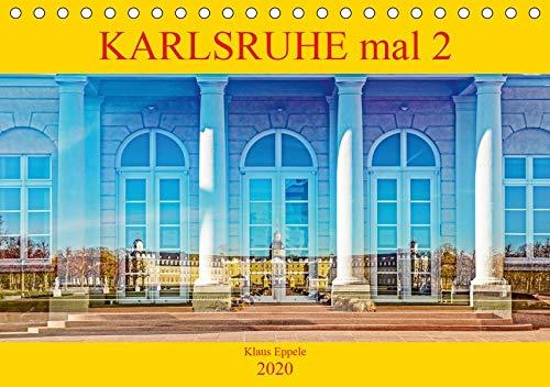 Karlsruhe mal 2 (Tischkalender 2020 DIN A5 quer): Faszinierende Doppelbelichtungen Karlsruher Highlights (Monatskalender, 14 Seiten ) (CALVENDO Orte)