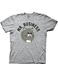 Bobs Burgers Mr Business Adult Heather Gray T-shirt