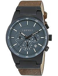 Esprit Herren-Armbanduhr XL Equalizer Outdoor Chronograph Quarz Leder ES107961003
