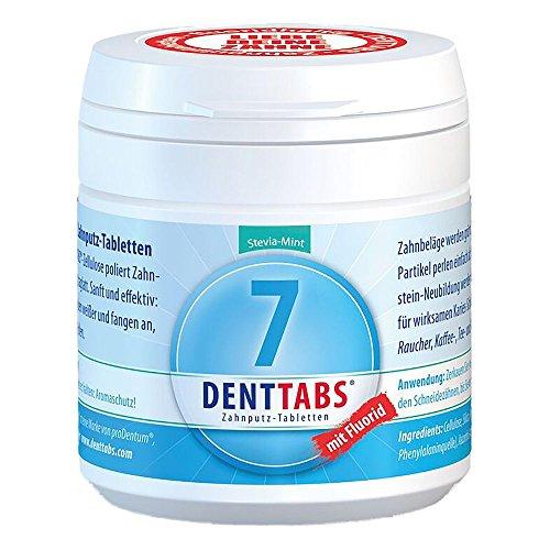 Natrium-fluorid (DENTTABS Zahnputztabletten Stevia-Mint mit Fluorid 125 Tabletten)