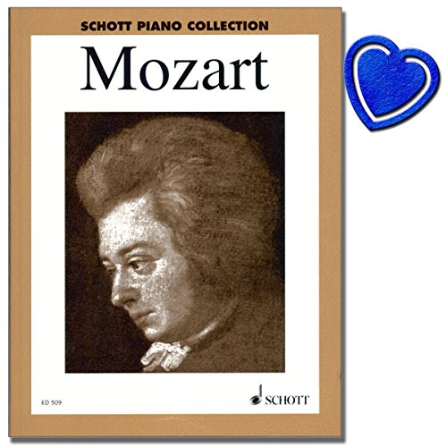 Mozart Ausgewählte Klavierwerke - das Standardwerk für den Klavierunterricht - 33 bekannten und leicht spielbaren Klavierwerken - Erweiterte Neuausgabe mit herzförmiger Notenklammer Er Ist Mein Meister