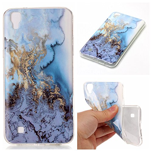 Preisvergleich Produktbild Linvei Hülle für LG X Power - TPU Silikon Backcover Case Handy Schutzhülle - Cover Klar Marmor Design - A6