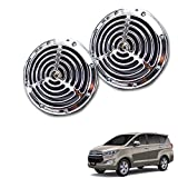 #7: Vheelocityin Small Size Silver Grill Horn (Set of 2) For Toyota Innova Crysta