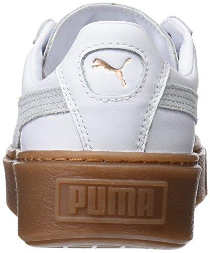 Scarpe puma Gomma Blanc Puma Da rosa Bianco Ginnastica Oro Cesto Platformphoria Femme Bassi f4ZwtTHq