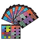 LUTER 2019 Calendrier Onglets Stickers Planificateur mensuel Adhésif Diviseur Onglet Index Autocollants pour Bullet Journal, ordinateur portable, agenda scolaire (5 ensembles, 120 onglets)