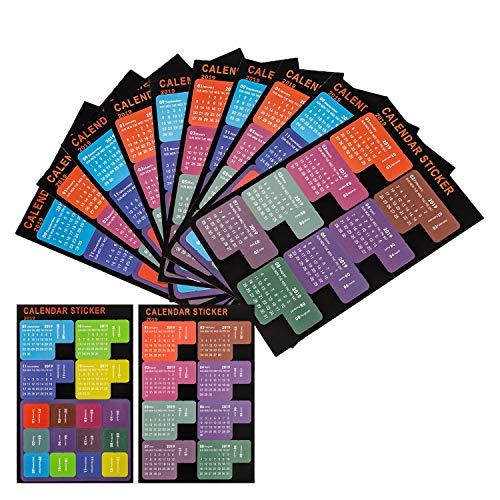 LUTER 2019 Calendrier Onglets Stickers Planificateur mensuel Adhésif Diviseur Onglet Index Autocollants pour Bullet Journal, ordinateur portable, agenda scolaire (5 ensembles, 120 onglets) par  LUTER