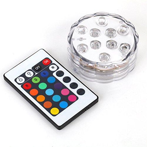 Saflyse Multicolor RGB LED unterwasser Wasserdicht Lampe Leuchte Deko Lichter Schwimmlichter Beleuchtung für Water Garden,Aquarium, Badewanne Pool und Spa etc