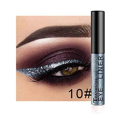 PinkLu Lidschatten FlüSsig,Glitzer Wasserfest,12 Farben Lidschatten-Palette Beauty Makeup Shimmer...