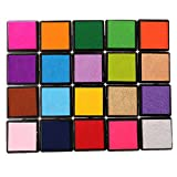 #4: Magideal Rubber Stamps Ink Pad Vivid Multi Colours Set Craft Card Making Scrapbooking