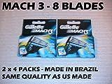 Mach3 Cartridge Razor Blade Refills 8 ct