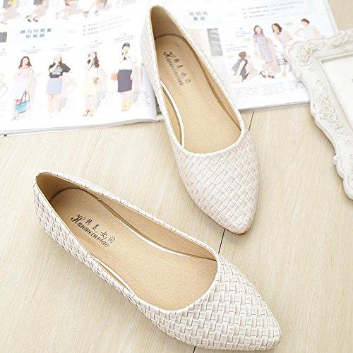&qq Bas plat pointu, unique chaussures chaussures dames, chaussures de mode 36