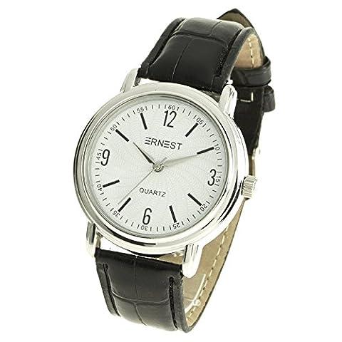 Montre-Concept - Montre analogique Homme - bracelet cuir synthétique noir