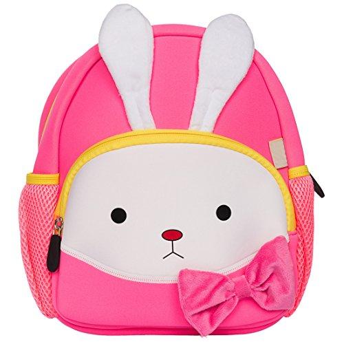 LingoTee Children's Backpack, Cute Baby Child Toddler Backpack Rucksack Durable Waterproof Cartoon School Bag for 2-6 yeas old Boys Girls Preschool-age Kindergarten (Kaninchen#3) (School 2 Bag)
