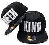 JameStyle26 King & Queen Snapback Set USA Cap Kappe Basecap Mütze Trucker Cappy Kult (King & Queen Schwarz Set)