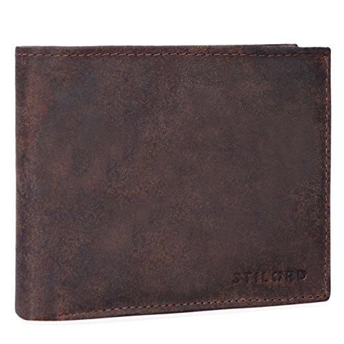 9e30e59b43 STILORD 'Morris' Grande portafoglio in vera pelle da uomo con portamonete  Portaf