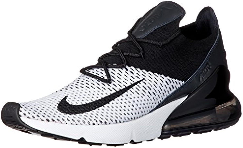 Nike Air Max 270 Flyknit (44, Blanco/Negro)
