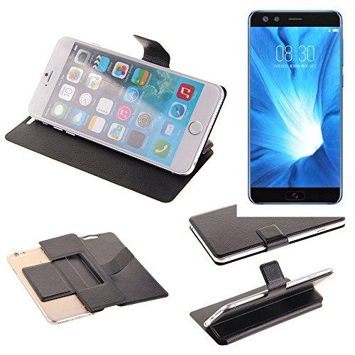 K-S-Trade Schutz Hülle für Nubia Z17 Mini S Schutzhülle Flip Cover Handy Wallet Case Slim Handyhülle bookstyle schwarz