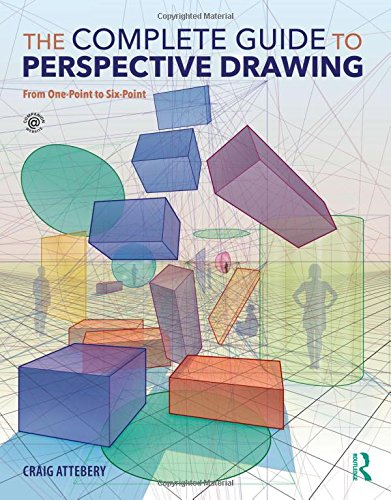 Cube-center (The Complete Guide to Perspective Drawing: From One-Point to Six-Point)