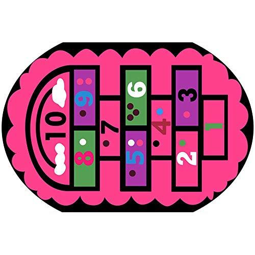 MAHAIQI El bebétrepa la Alfombra elíptica de Dibujos Animados,el Salón Infantil,el Dormitorio Lleno de bebés, Gráfico 4 tamaño Personalizado para contactar a los Clientes